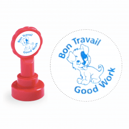 Xclamation Bon Travail French Stamp