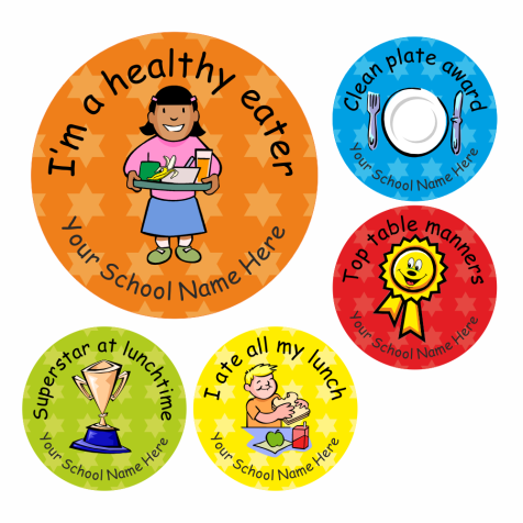 Healthy Lunch Stickers