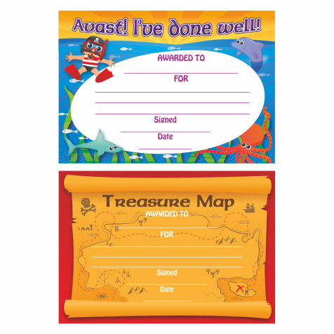 A5 Pirate Certificates