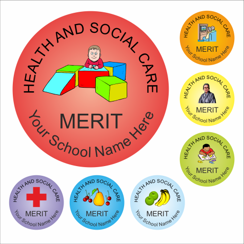 Health And Social Care Reward Stickers - Classic