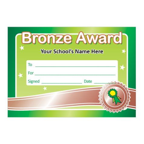 Bronze Award Certificates