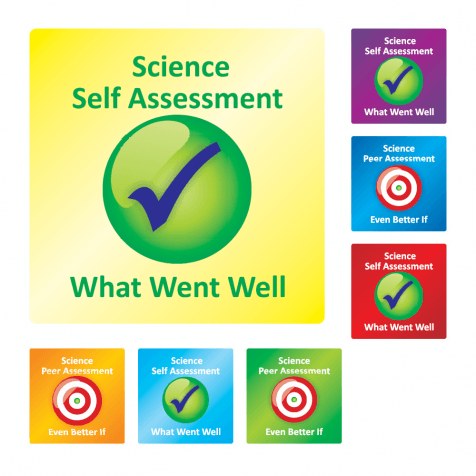 Science Self/Peer Assessment Stickers