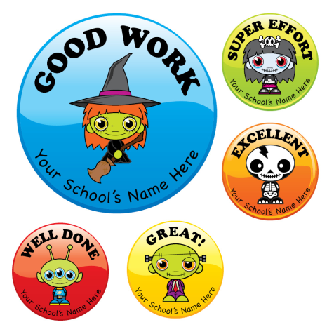 Personalised Halloween Themed Award Stickers