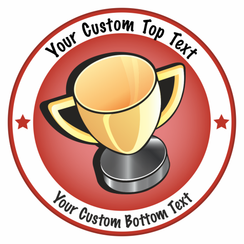 Super Sized Customisable Trophy Award Stickers