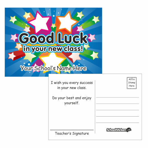 Good Luck in your New Class Postcards