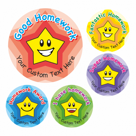 Homework Award Star Stickers