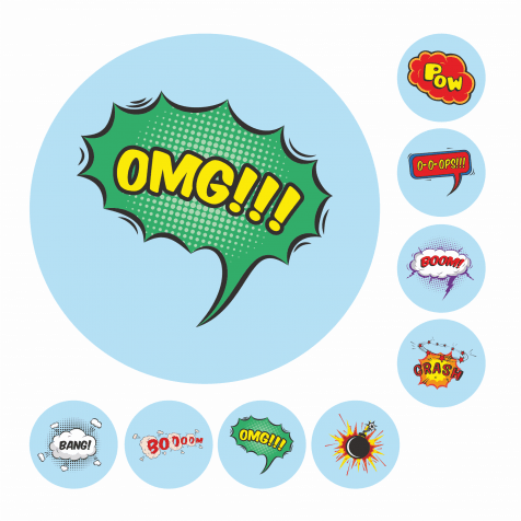 19mm Comic Speech Bubbles Reward Stickers