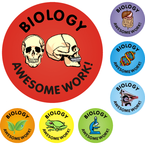 Awesome Work Reward Stickers - Biology