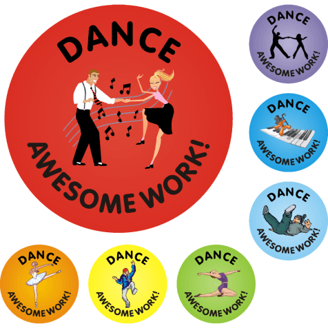 Awesome Work Reward Stickers - Dance