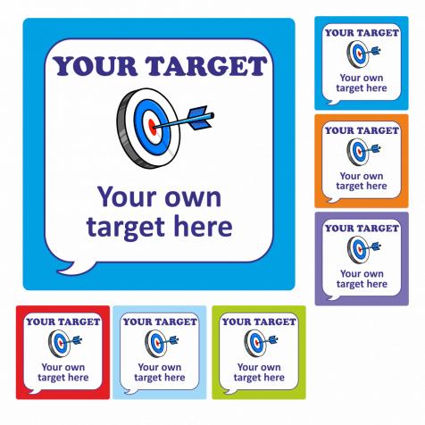 speech bubble target stickers school stickers. Black Bedroom Furniture Sets. Home Design Ideas