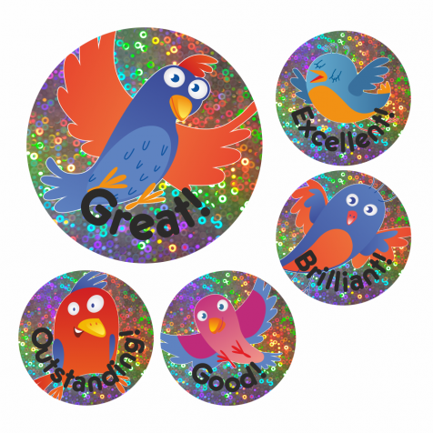 Sparkly Bird Praise Stickers