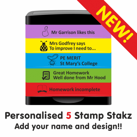 Personalised Stamp Stakz - 5 Bricks