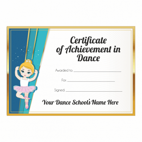 Certificate of Achievement in Dance