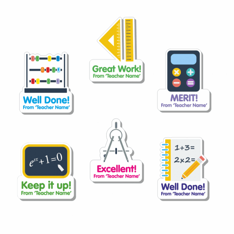 Custom Shape Maths Stickers