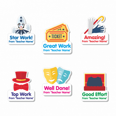 Custom Shape Drama Stickers
