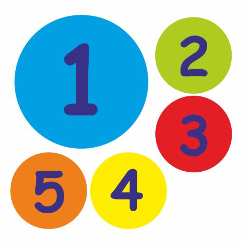 35mm Numbers 1-5 Stickers | School Stickers: www.schoolstickers.com/en-gb/35mm-numbers-1-5-stickers