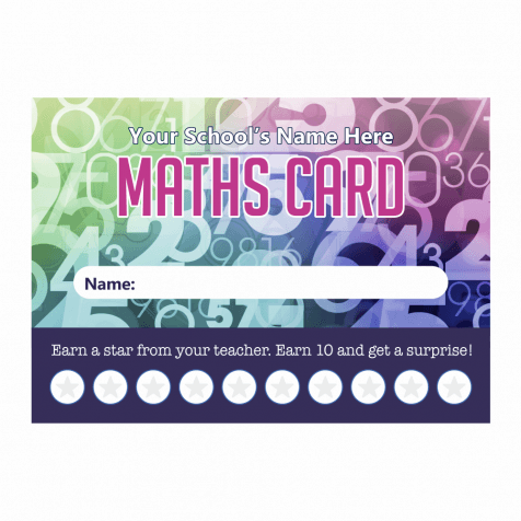 Maths Punch Cards
