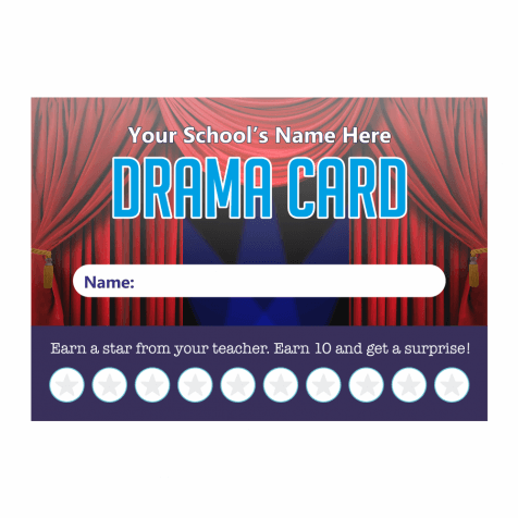 Drama Punch Cards