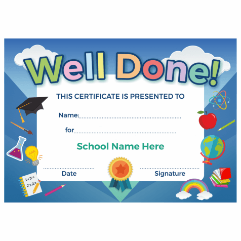 Well Done Primary Certificate