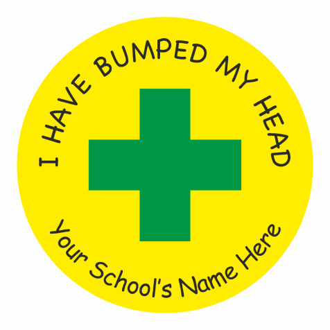 "Injury ""Bumped Head"" Stickers"