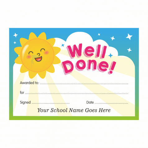 Well Done Cards - Sunshine Design