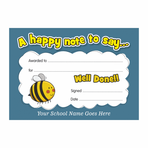 Well Done Cards - Bumble Bee Design