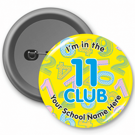 11 Club Times Table Button Badges