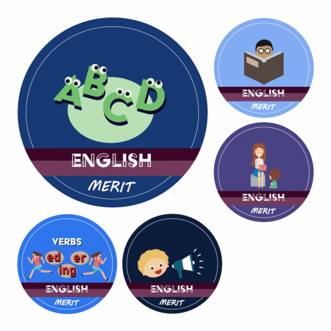 English KS1 and KS2 Curriculum Stickers