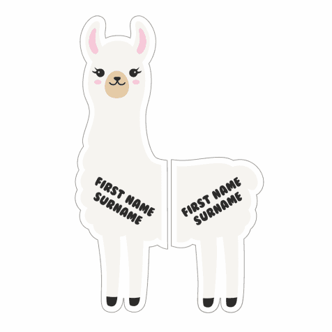 Llama Left and Right Shoe Labels