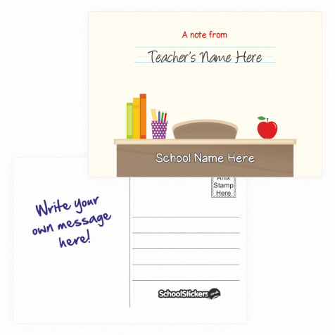 Teacher's Personalised Postcards - Desk Design