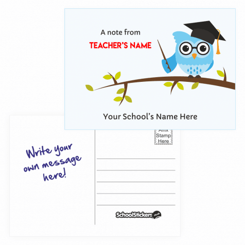 Teacher's Personalised Postcards - Owl Design