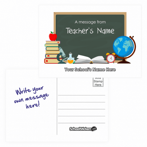 Teacher's Personalised Postcards - Black Board Design