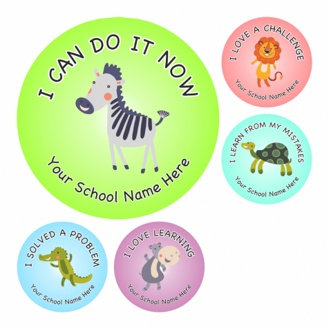 Growth Mindset Animal Stickers