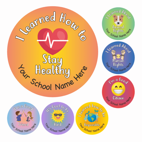 PSHE Multi Award Stickers