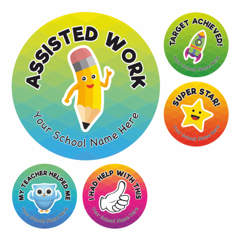 Assisted Work Multi Award Stickers