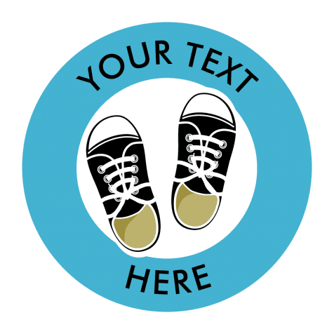 Customisable Kicks Floor Stickers