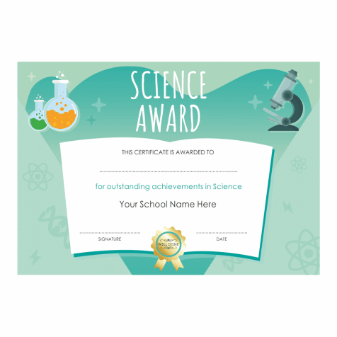 Science Outstanding Achievement Certificates