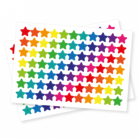 Bright Star Shape Stickers