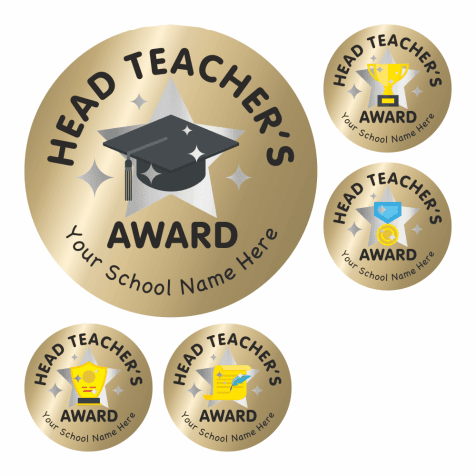 Head Teacher's Hybrid Award Stickers