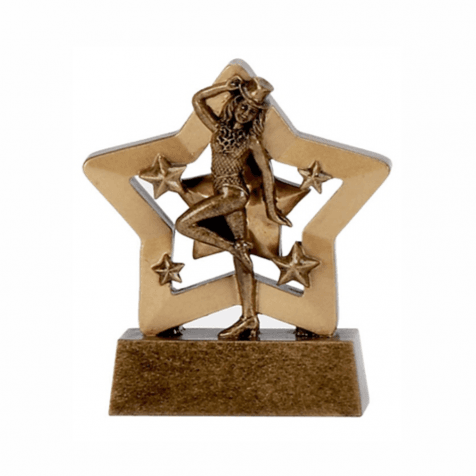 Bronze Sports Medal Mini Star Trophy
