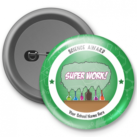 Science Award Customized Button Badge