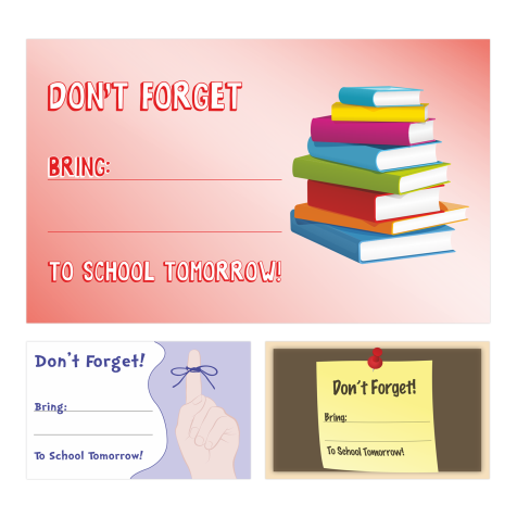 'Don't Forget' Stickers