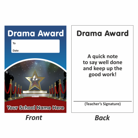 Drama Mini Award Slips Design 1