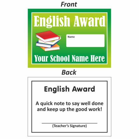 English Mini Award Slips Design 2