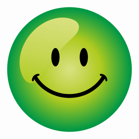 Mini Green Smiley Face Stickers