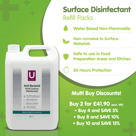 ULTIMAS Multi-Surface Disinfectant Refill Packs