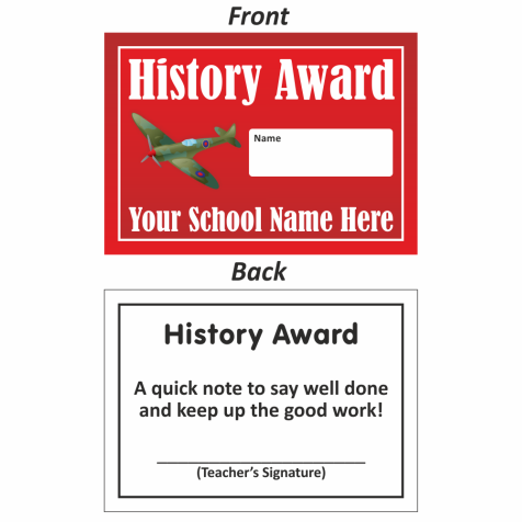 History Mini Award Slip Design 2
