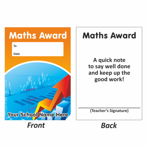 Math Mini Award Slip Design 1