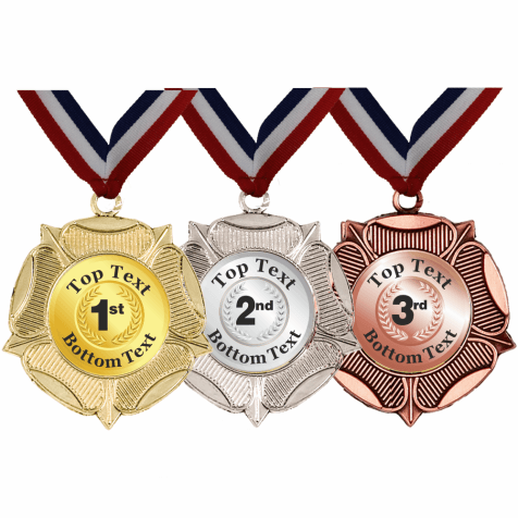 Mixed Medals & Ribbons - Wreath Designs
