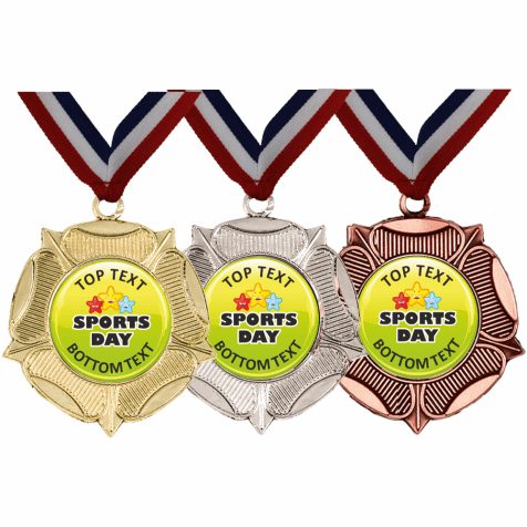 Mixed Medals & Ribbons - Sports Day Designs